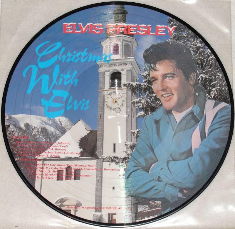Elvis Presley Christmas Music.Elvis Presley Christmas With Elvis Picture Vinyl Lp