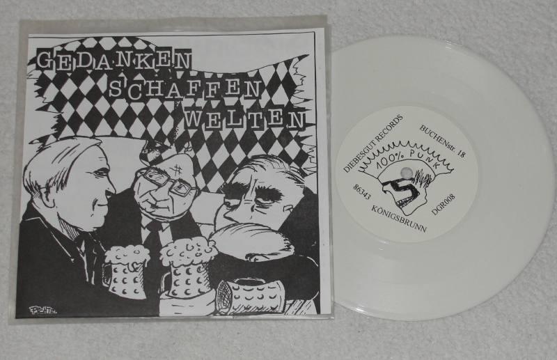 """GEDANKEN SCHAFFEN WELTEN - V/A - 7"""" e.p.  farb. Vinyl"""