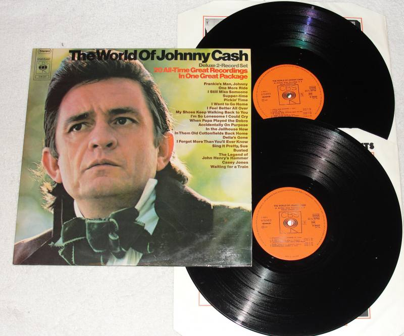Johnny Cash Ring of Fire Vinyl LP Recording - YouTube