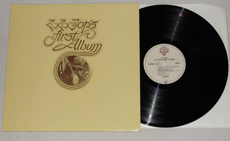 ZZ-TOP-First-Album-LP-Vinyl-Warner-1980-RARE